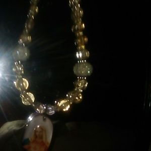 Handmade chain bead Virgin Mary